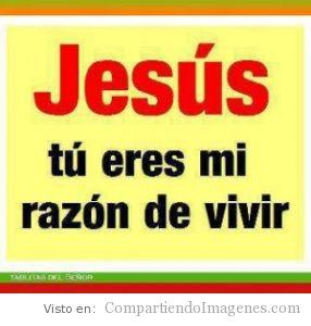 Jesus eres la razon de mi vivir