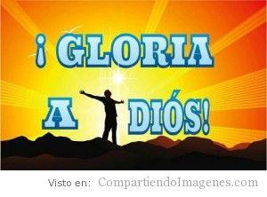 Gloria a Dios!