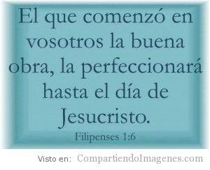 Jesucristo perfeccionara Su obra en nosotros