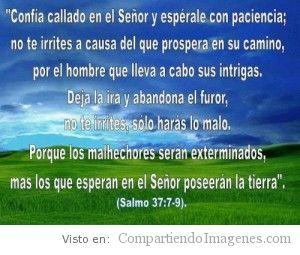 Confía callado en el Señor