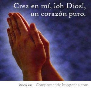 Señor crea en mi un corazón puro