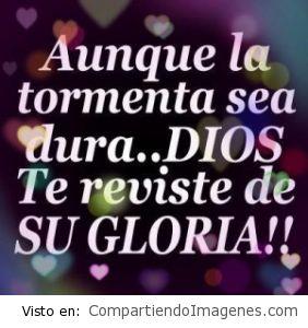 Dios te reviste de Su Gloria