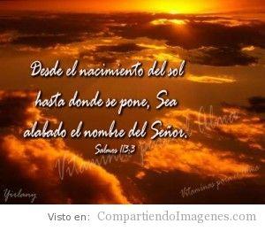 Sea alabado el nombre de Dios