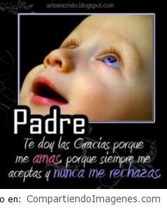 Padre, Gracias porque me amas!