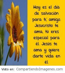 Hoy es el día de Salvación para ti