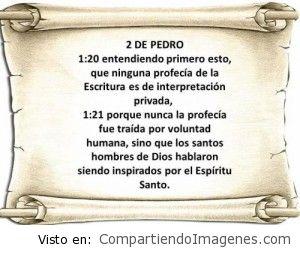 Las escrituras… Inspiración del Espíritu de Dios