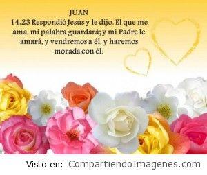 Jesus dijo: El que me ama, mi palabra guardara!