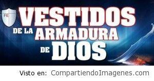Vestidos de la armadura de Dios