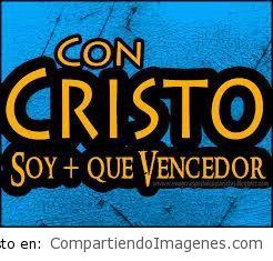 Con Cristo soy mas que vencedor@
