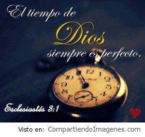 El tiempo de Dios es perfecto!