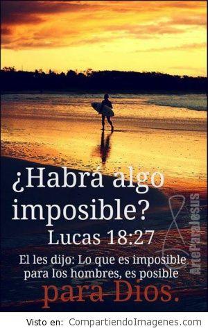 hay algo imposible para dios