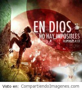En Dios no hay nada imposible