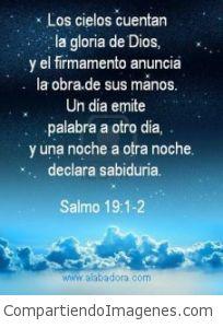 Los cielos cuentan la Gloria de Dios