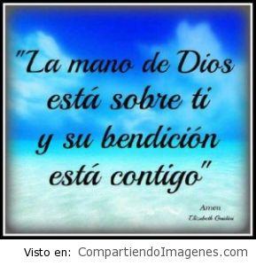 La bendición de Dios esta contigo.