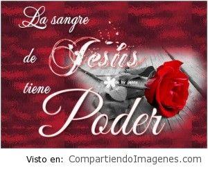La sangre de Cristo tiene poder
