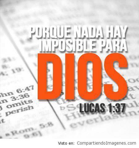 Nada hay imposible para Dios2