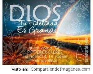 Grande es tu fidelidad Señor Jesus
