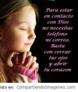 Estar en contacto con Dios…