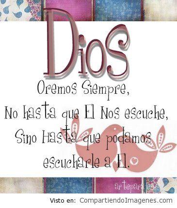 Ora siempre a Dios