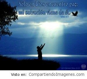 Solo en Jesús encuentro paz, de el viene mi salvacion