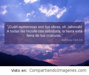 Postal del Salmo 104:24