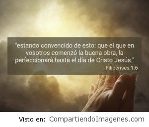 Postal de Filipenses 1:6