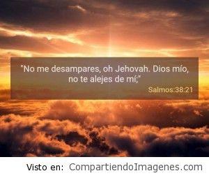 Postal del Salmo 38:21