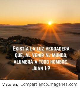 Postal de Juan 1:9