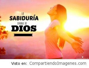 La sabiduría emana de Dios