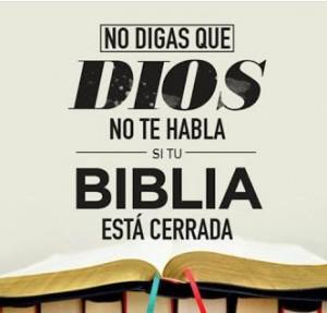 Abre tu biblia, Dios quiere hablarte