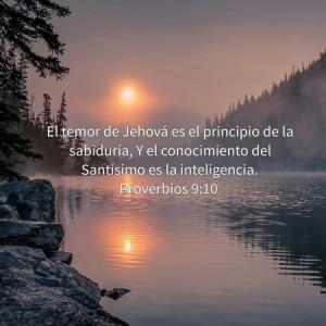 El temor de Jehová es el principio de la sabiduría.