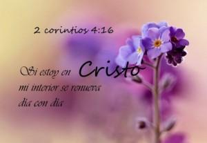 Si estoy en Cristo mi interior se renueva