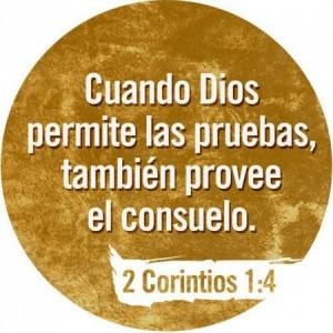 Cuando Dios permite las pruebas, tambien provee el consuelo