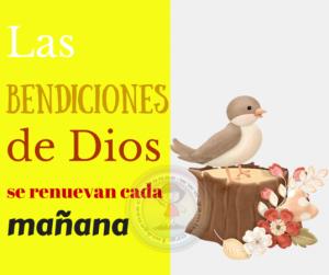 Lss bendiciones de Dios se renuevan cada mañana