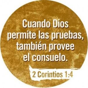 Dios nos consuela en momentos de pruebas