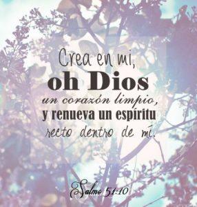 Crea en mi oh Dios un corazon limpio
