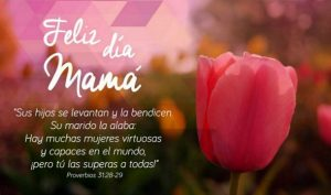 Postal – Feliz y Bendecido dia madre!