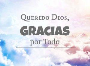 Gracias querido Dios por TODO!