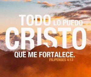 Todo puedo hacerle frente, gracias a Cristo que me fortalece