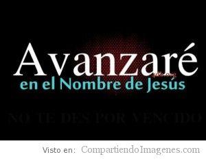 En el nombre de Jesús!