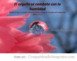 El orgullo se combate con la humildad