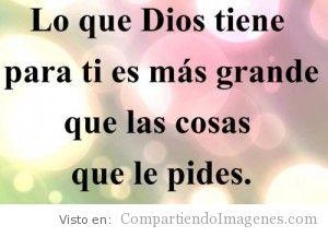 Dios tiene algo grande para ti