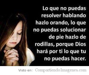 Resuélvelo orando a Dios