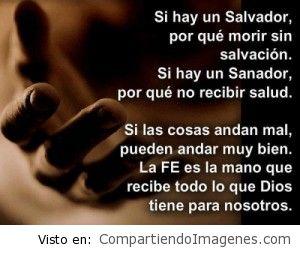 Si hay un Salvador, por que morir sin Salvación?