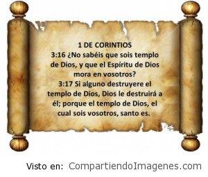 Eres templo del espiritu de Dios