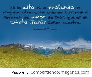 Nada nos separara del amor de Cristo