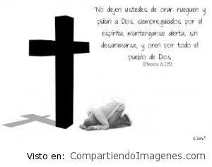 Nunca dejemos de orar al Dios y Padre nuestro