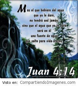 Fuente de agua para vida eterna