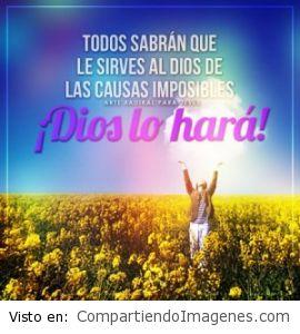 Dios lo hara!