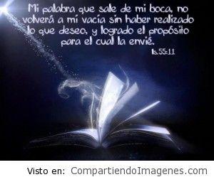 Mi Palabra no volverá a mi vacía…